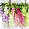 12 шт./лот, свадебные украшения, искусственные шелковые Висячие лозы с цветами из ротанга, свадебные цветы, гирлянда для дома, сада, отеля