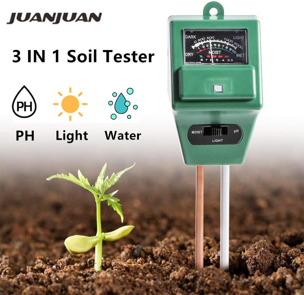 3 IN 1 Digital Soil Moisture Sunlight PH Meter Tester for Plants Flowers Acidity Moisture Measurement Garden Tools 20% off