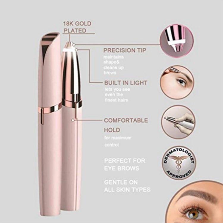 Amazon Hot-Eyebrow Trimmer Lady Shaver Lipstick Eye-brow Shaper Epilator Eyebrow Instrument Flawless