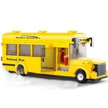 City Town Bus StationStar Tour School doouble london Building Blocks Classic Car bus Model Legoingly Toys for Children block