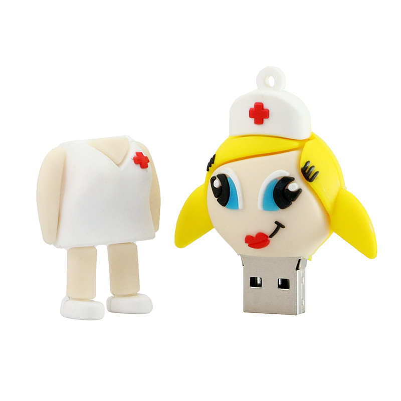 Vampire Tooth Doctor Nurse Flash Drive USB 2.0 Cartoon Dentist Memory Pendrive