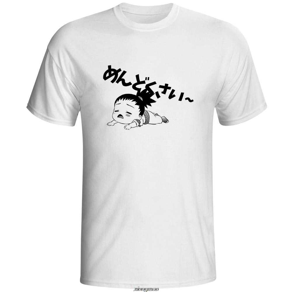 Kłopotliwe T-shirt Nara Shikamaru Naruto Mendokusai nowość Pop T Shirt na co dzień Rock projekt kobiety mężczyźni Top