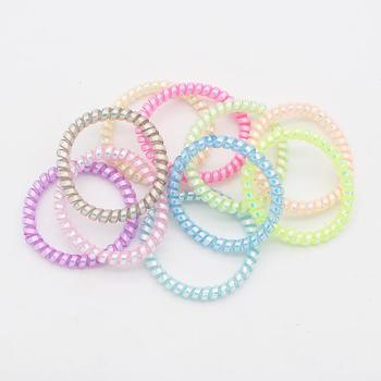 bambi staveley how to make thin hair fat 10pcs Super Thin Coiled Plastic Hair Ties Colorful Stretched Spiral Hair Ropes Telephone Wire Ponytail To Protect Your Hair