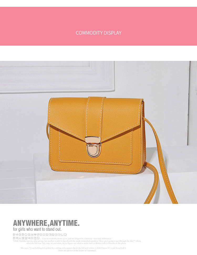 H7010d8b34773430aa6a63a1faeb94bd51 Fashion Small Crossbody Bags for Women 2019 Mini PU Leather Shoulder Messenger Bag for Girl Yellow Bolsas Ladies Phone Purse
