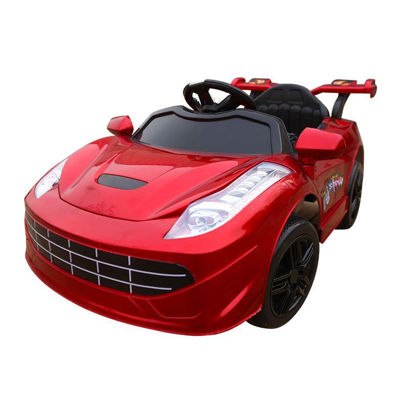 Children's electric car four-wheeled double drive car baby stroller baby electric toy car can sit people remote control car toys