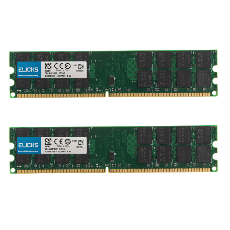 8gb kit 2x 4gb PC2 6400 DDR2 800MHZ ram 1.8v sdram da memória do desktop de 240pin amd apenas para amd não para o sistema intel|RAM|   - AliExpress