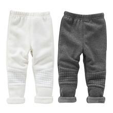цена BOBORA Baby Kids Leggings Pants for Girls Basic Elastic Waist Winter Warm Thick Skinny Trousers New Clothes онлайн в 2017 году