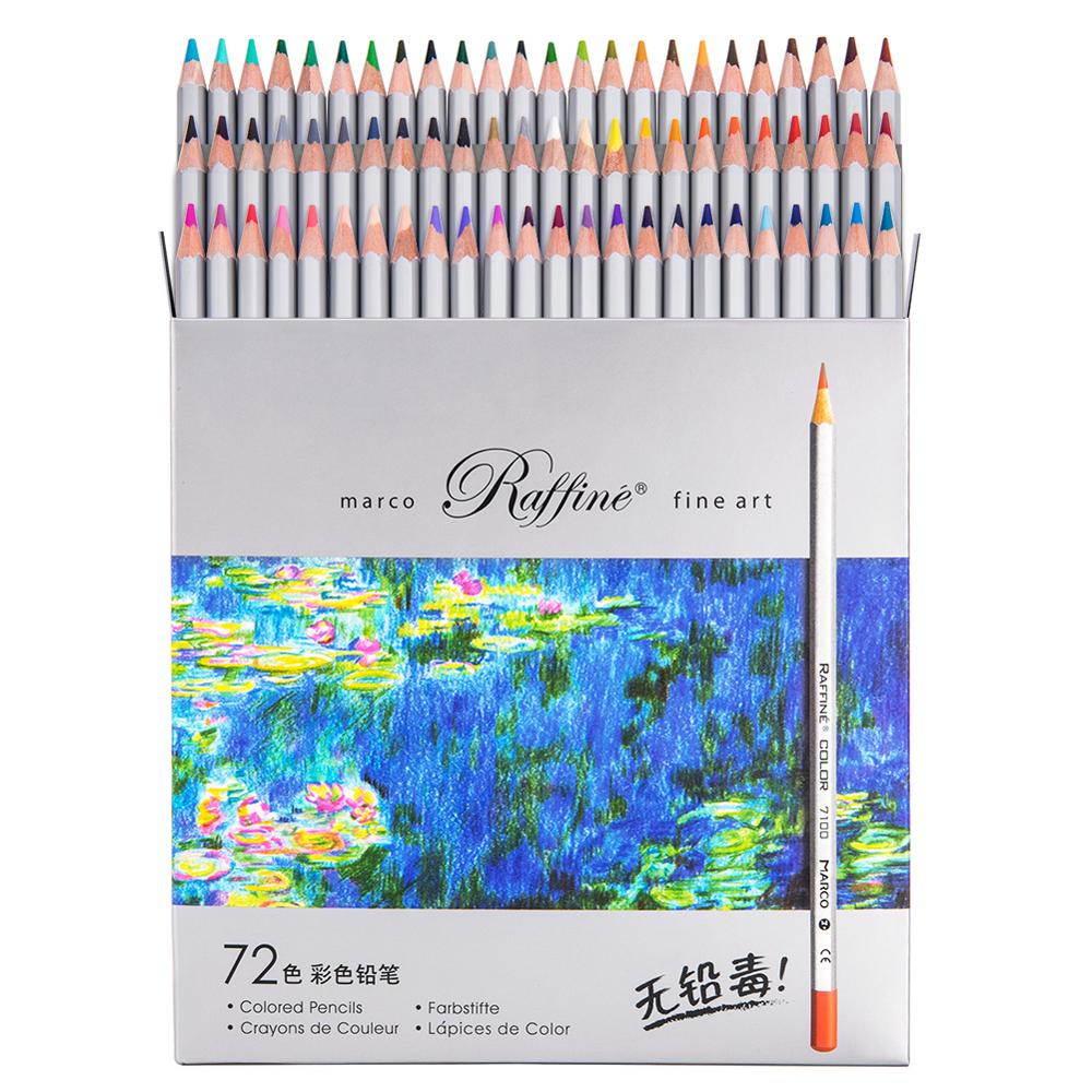 MARCO 24/36/48/72 Professional Wood Colored Pencil Set Oil Color Pencils For School & Office Drawing Pencils Sketch Art Supplies
