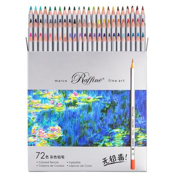 MARCO 24/36/48/72 Professional Wood Colored Pencil Set Oil Color Pencils for School & Office Drawing Pencils Sketch Art Supplies faber castell oily colored pencil 24 36 48 72 100colors professional painting set color pencils for drawing sketch art supplies