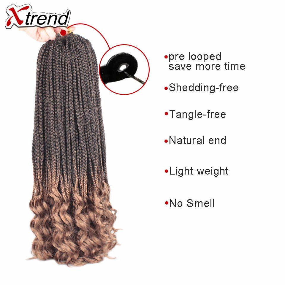 Xtrend крючком волосы богемные косички синтетические плетеные кроличьи шиньоны с косичками богиня оплетка