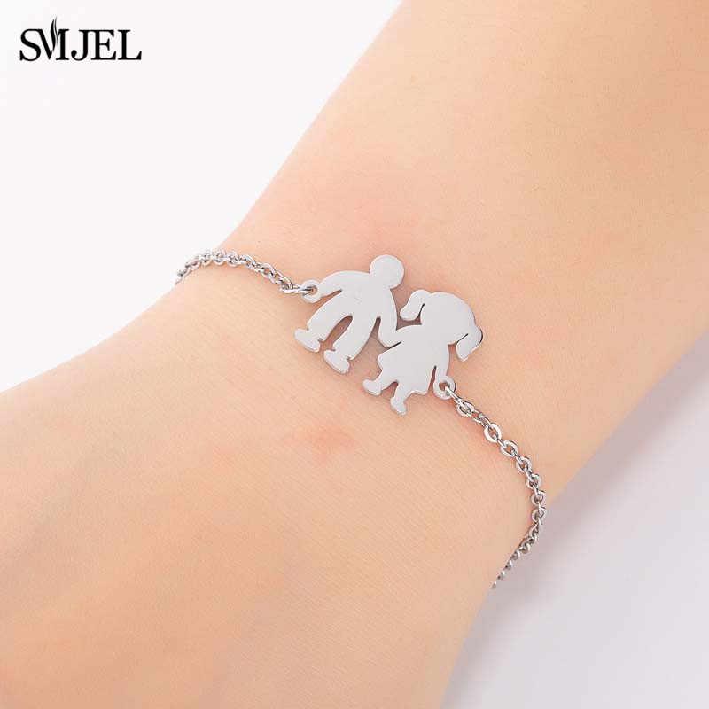 SMJEL In Acciaio Inox Braccialetti con ciondoli Femme Trendy Elephant Puzzle Cinque star Dei Ragazzi Delle Ragazze Braccialetti & Braccialetti pulseras mujer moda