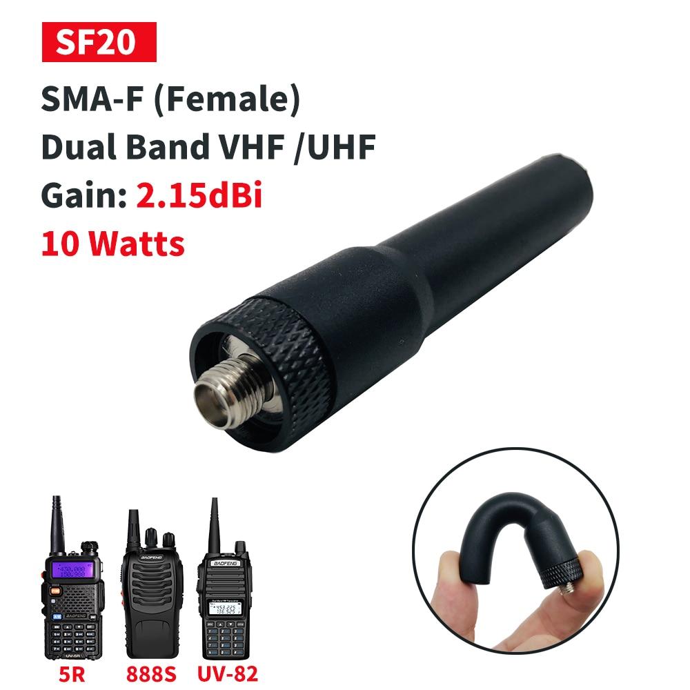 Original Baofeng SF20 Soft Antenna SMA-F Female Dual Band Short Antenna For UV5R UV-82 BF-888S UV-3R UV-5R Pro Bf888s UV82hp
