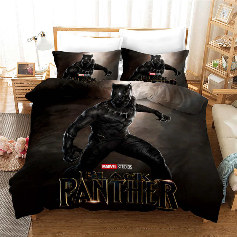 The Avengers Black Panther Bedding Sets Twin Size Quilt Duvet Covers Set For Kid Bedroom Boys Bed Linen 3d Print Home Textile