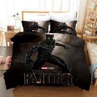 The Avengers Black Panther Conjuntos de Cama Twin Size Colcha Capas de Edredão set para o Miúdo Quarto Meninos roupa de Cama 3d impressão têxtil de casa