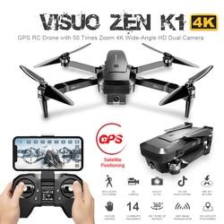 ZEN K1 GPS RC Drone z 50 razy Zoom 4K szerokokątny HD podwójny aparat 5G Wifi FPV bezszczotkowy silnik data data powrotu (28 minut Drone w Drony z kamerą od Elektronika użytkowa na