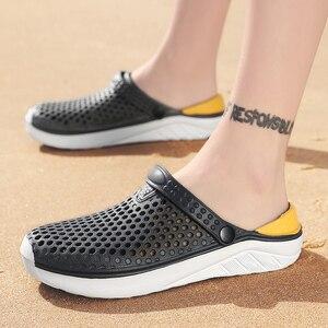 Image 4 - Unisex Spiaggia di Modo Zoccoli di Spessore Suola Pantofola Impermeabile Anti Slittamento Sandali di Flip Flops per Le Donne Degli Uomini
