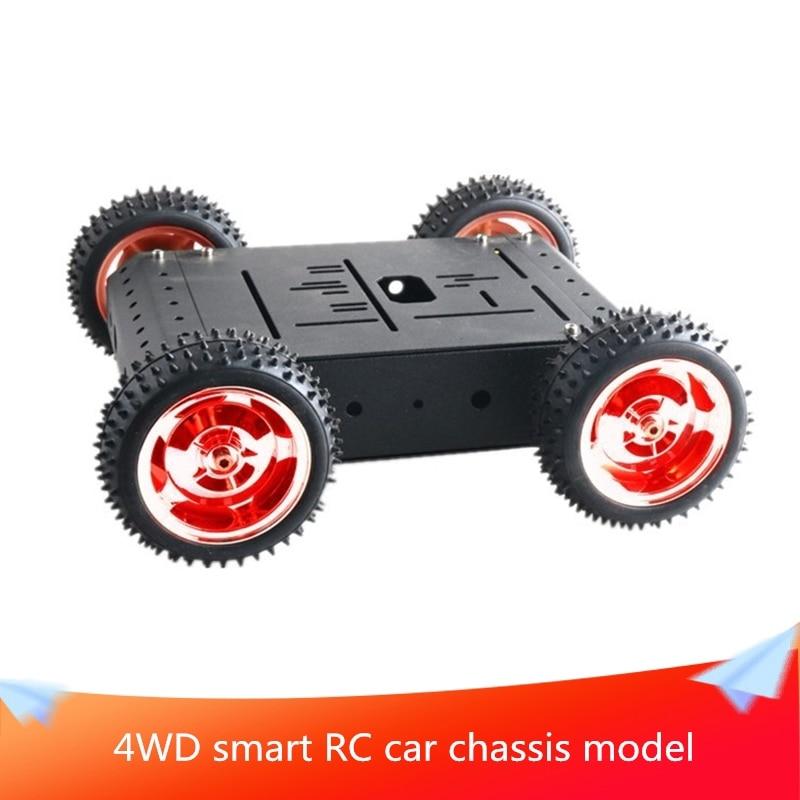 4wd inteligente rc carro chassi modelo com 85mm roda de borracha desmontado robo movel plataforma 4pcs