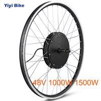 Electric Bike Conversion Kit Rear Wheel 1000W Electric Motor 48V 1500W Front Wheel Hub Motor e bike Kit 20 26 28 700C Bike Motor