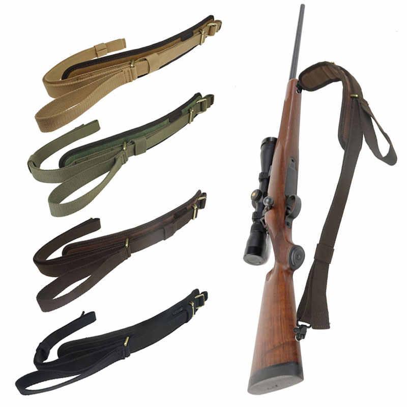 Hunting Holder Weapon Shotgun Strap Leather Rifle Sling with Velour Gun