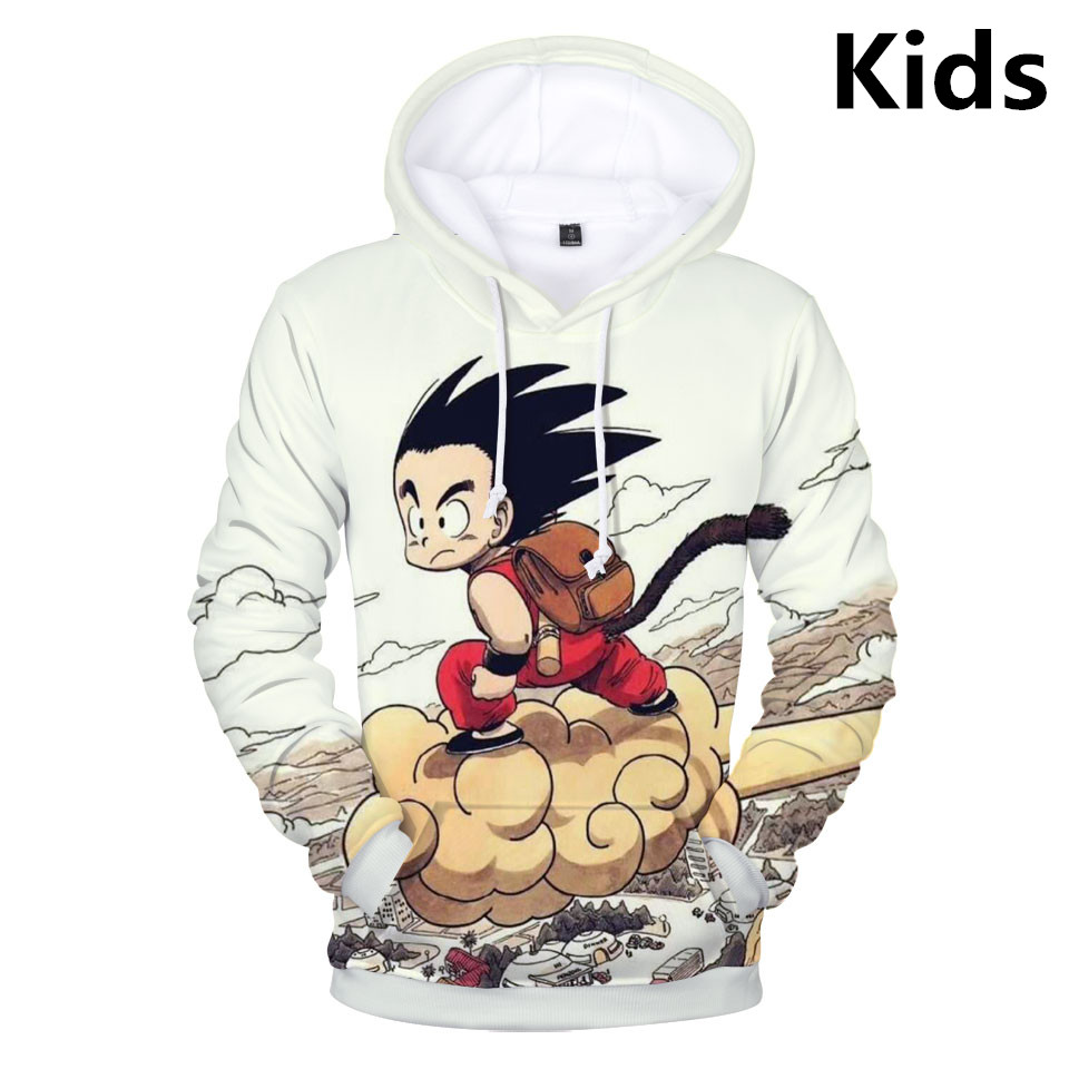 2 To 13 Years Kids Hoodies Dragon Ball Printed Sweatshirt Hoodie Boys Girls Long Sleeve Streetwear Jacket Coat Children Clothes