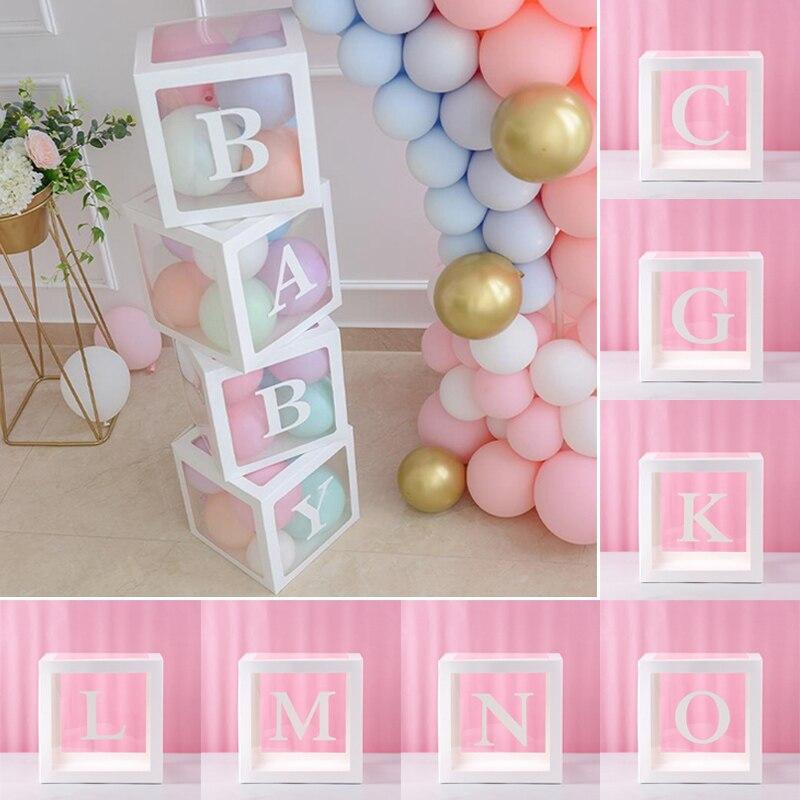 Упаковочная коробка для воздушных шаров для осовечерние, прозрачные коробки с буквами, для детей, для любимых, для дня рождения, магазина, ук...