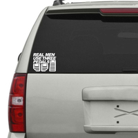 Real Men Use Three Pedals car stickers 4