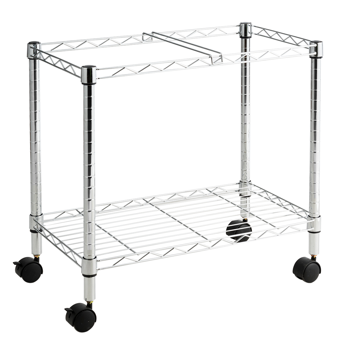 Costway Metal Rolling File Cart For Letter Size And Legal Size Folder Storage Silver
