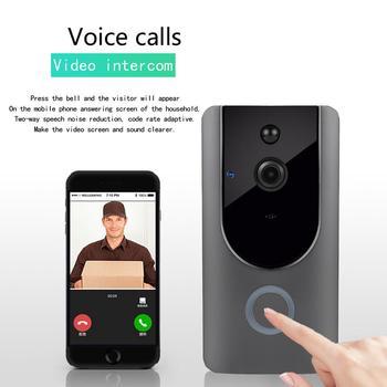 Video Doorbell Smart Wireless WiFi Security Door Bell Visual Recording Home Monitor Night Vision Intercom Door Phone