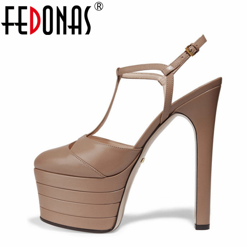 FEDONAS Sexy Ultra High Heels Women Pumps Sexy Platforms Party Wedding Shoes Woman Heels Prom Pumps Quality Women Shoes Sandals