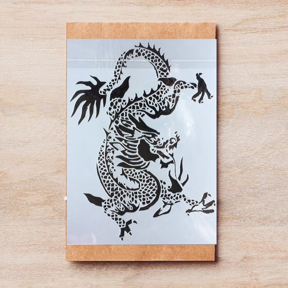 1Pcs 26*18cm Chinese Dragon DIY Layering Stencils Painting Scrapbook Coloring Embossing Album Decorative Template