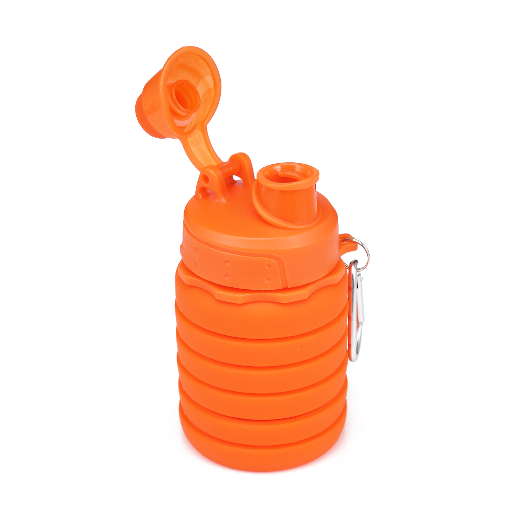 H70128e82159a4d0fb9a8665a30f327b82 500ML Portable Silicone Water Bottle Retractable Folding Coffee Bottle Outdoor Travel Drinking Collapsible Sport Drink Kettle
