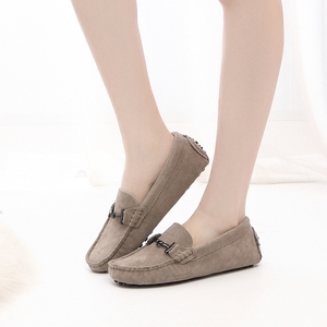 Image 5 - MIYAGINA 100% Genuine Leather Women Shoes 2020 New Women Flats Spring Flat moccasins Woman Casual Shoes 17 Colors Size 34 41