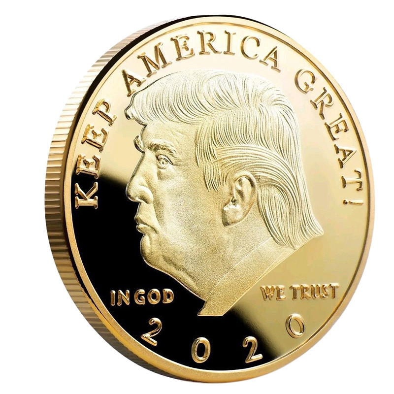 Donald J Trump 2020 Keep America Great Commander In Chief Gold Challenge Coin image
