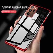 etui Uwaga 20 note20 S20 S21 Ultra Plus etui luksusowe przezroczyste etui silikonowe do Samsung Galaxy Note 20 S20 S21 Ultra Plus obudowa