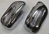 Chrome Cover Mirror Met Led Side Blinker Voor Toyota Yaris Hatchback 05-08