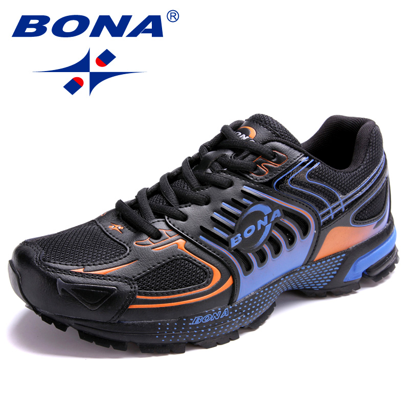 BONA Mesh Sneakers Leisure-Shoes Male Footwear Outdoor Popular-Style Designers Trendy
