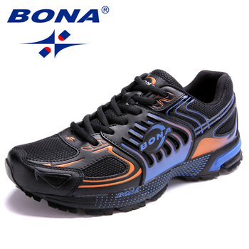 BONA 2020 New Designers Popular Style Casual Shoes Shoes Men Outdoor Male Footwear Mesh Sneakers Shoes Man Leisure Shoes Trendy