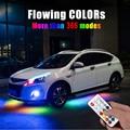 Светодиодная лента RGB с пультом дистанционного управления  струящаяся под трубу автомобиля  система нижнего освещения  неоновый светильник
