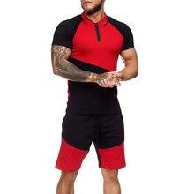 Мужской спортивный костюм летние мужские комплекты для бега