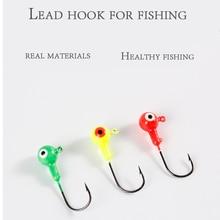 5 Pce% 2F10 Pce Fishing Jig Head Hooks Fishing Hook LeadTackle Soft Worm Shrimp Lures Hooks Jig Lure Hard Baits Soft Worm