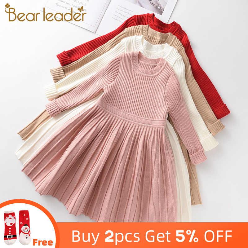 فستان سترة بأكمام طويلة من Bear Leader ملابس للفتيات الصغيرات برنسيس فساتين حفلات توتو رائعة ملابس للفتيات الصغيرات للكريسماس