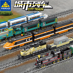 Image 3 - Technic Battery Powered Electric Classic Compatible All Brands Train City Rail Creator Building Blocks Bricks Toys For kids