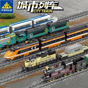 Image 3 - Tecnología con batería eléctrica clásica Compatible con brank Train City Rail Creator bloques de construcción juguetes para niños regalo