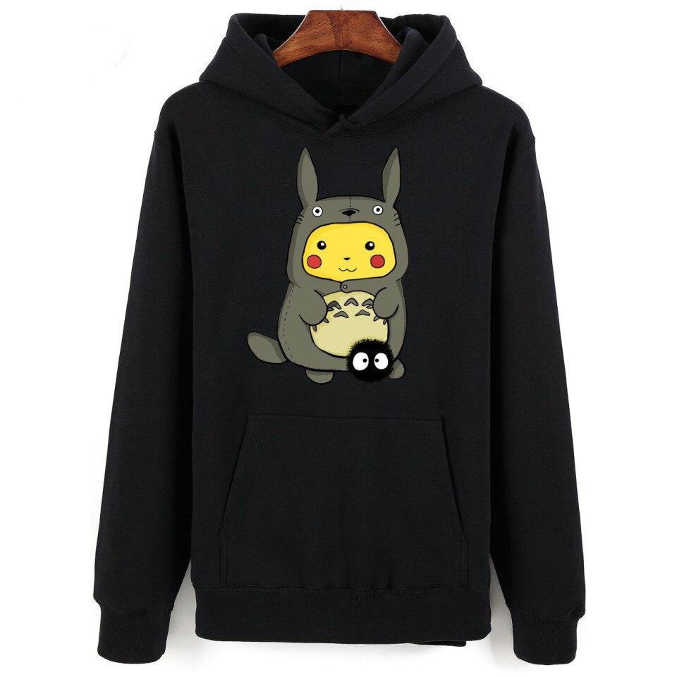 Hot Sale Cute Totoro Hoodies Sweatshirts In Men/women Funy Streetwear Long Kawai Men/Women Pullovers For Couples Oversized Tops