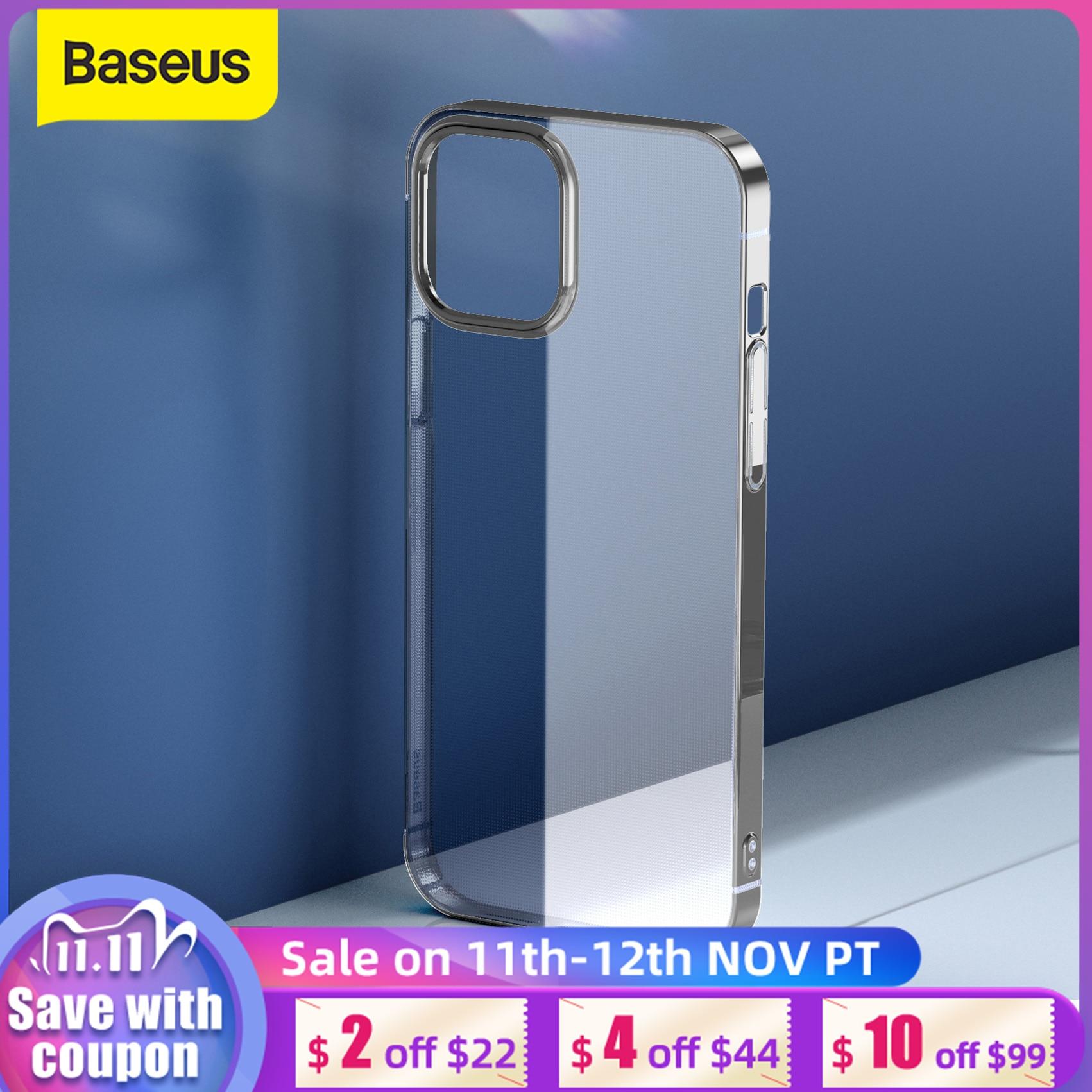 Baseus Telefoon Case Voor Iphone 12 Mini Transparante Telefoon Case Voor Iphone 12 Pro Max Ultra Dunne Back Phone Cover lens Bescherming