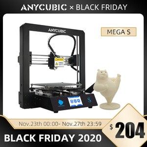 Image 1 - ANYCUBIC Mega S 3d Máy In I3 Mega Nâng Cấp DIY 3d In Màu Toàn Khung Kim Loại Cao Cấp Độ Chính Xác Cao Impresora 3d impressora