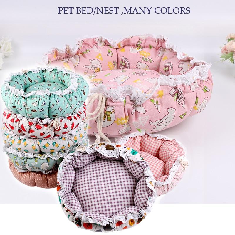 Pet Dog Nest flower Bud Nest Pumpkin Nest Small Dog Kennel Cat Nest Pet Mat Sleep Nest For Cat Teddy Chihuahua Bed 1