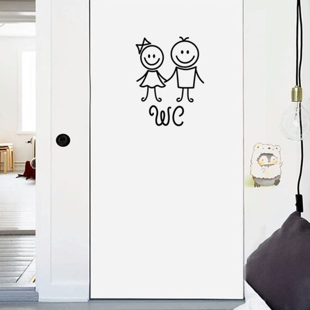 Cartoon WC Door Stickers 10