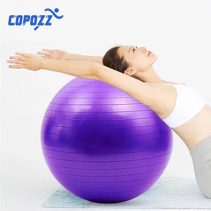 Sports Yoga Balls Pilates Fitness Gym Balance Fitball Exercise Training Workout Massage Ball 55cm 65cm 75cm Without Pump