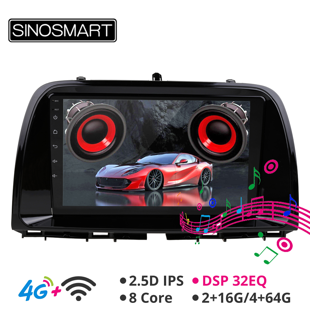 Sinosmart Android 8.1 Car GPS Navigation <font><b>Radio</b></font> for <font><b>Mazda</b></font> CX-5 2013-2016 2din 2.5D IPS/QLE Screen Support BOSE System 4G LTE 32EQ image